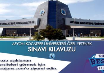 Afyon Kocatepe Üniversitesi Besyo Özel Yetenek Sınavı