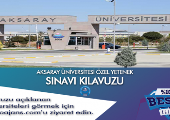 Aksaray Üniversitesi Besyo Özel Yetenek Sınavı