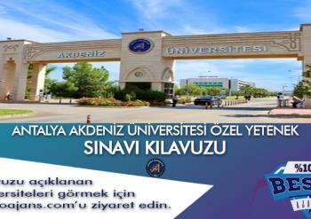 Antalya Akdeniz Üniversitesi Besyo Özel Yetenek Sınavı