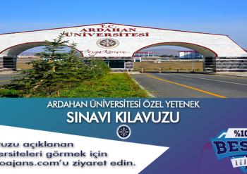 Ardahan Üniversitesi Besyo Özel Yetenek Sınavı