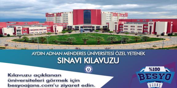 Aydın Adnan Menderes Üniversitesi Özel Yetenek Sınavı