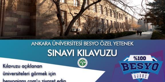 Ankara Üniversitesi Besyo Özel Yetenek Kılavuzu