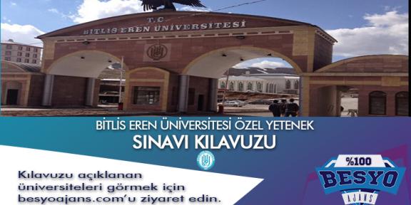Bitlis Eren Üniversitesi Besyo Özel Yetenek Sınavı Kılavuzu
