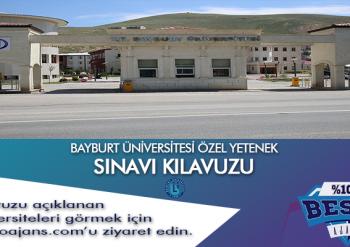 Bayburt Üniversitesi Besyo Özel Yetenek Sınavı