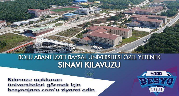 Bolu Abant İzzet Baysal Üniversitesi Besyo Özel Yetenek Sınavı