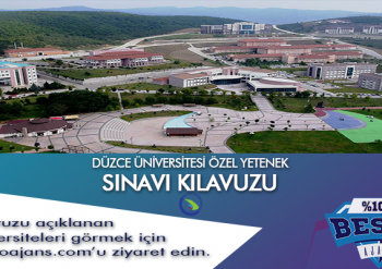 Düzce Üniversitesi Besyo Özel Yetenek Sınavı