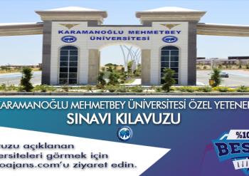 Karamanoğlu Mehmetbey Üniversitesi Besyo Özel Yetenek Sınavı