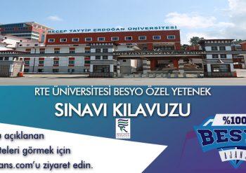 RTE ÜNİVERSİTESİ BESYO