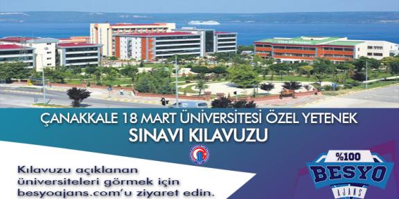 Çanakkale Onsekiz Mart Üniversitesi Besyo Özel Yetenek Sınavı