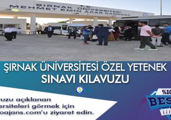 Şırnak Üniversitesi Besyo Özel Yetenek Sınavı
