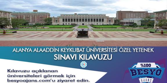 Alanya Alaaddin Keykubat Üniversitesi Besyo Özel Yetenek Sınavı