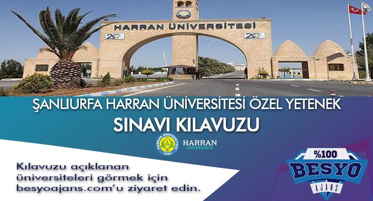Şanlıurfa Harran Üniversitesi Besyo Özel Yetenek Sınavı