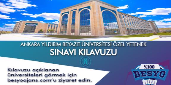 Ankara Yıldırım Beyazıt Üniversitesi Besyo Özel Yetenek Sınavı