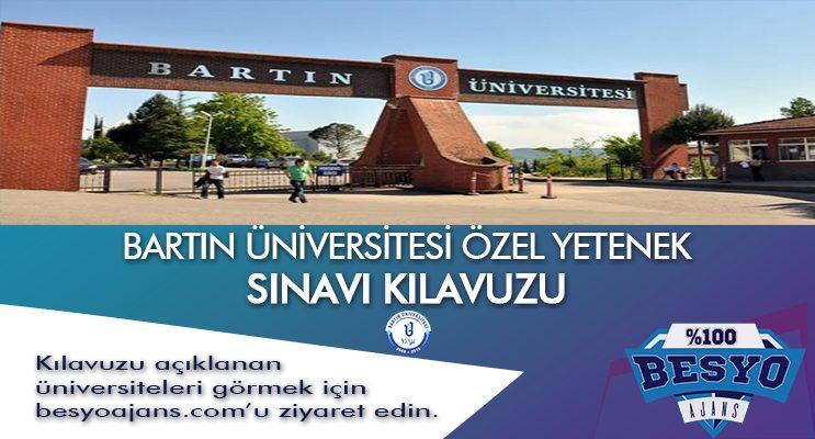 Bartın Üniversitesi BESYO Özel Yetenek Sınavı