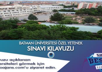 Batman Üniversitesi Besyo Özel Yetenek Sınavı