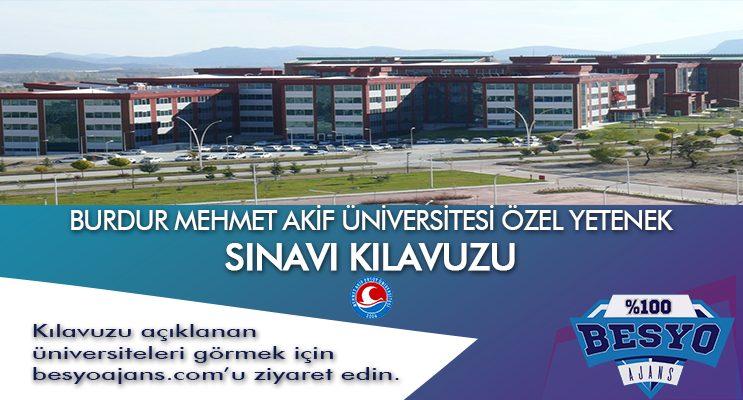 Burdur Mehmet Akif Ersoy Üniversitesi Besyo Özel Yetenek Sınavı