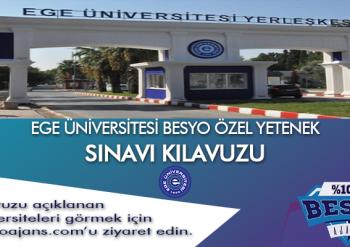 Ege Üniversitesi BESYO Özel Yetenek Sınavı