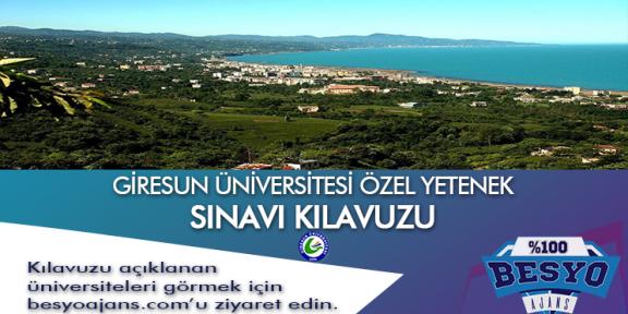 Giresun Üniversitesi Besyo Özel Yetenek Sınavı