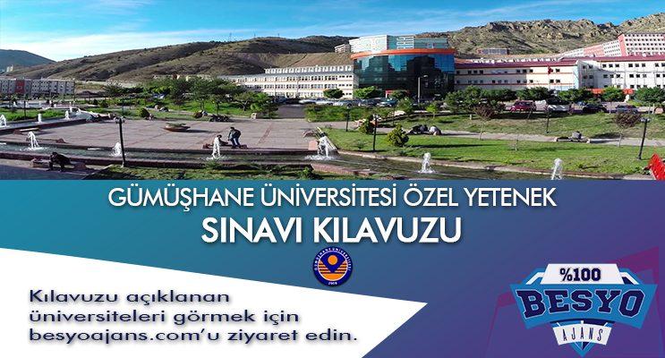 Gümüşhane Üniversitesi Besyo Yetenek Sınavı