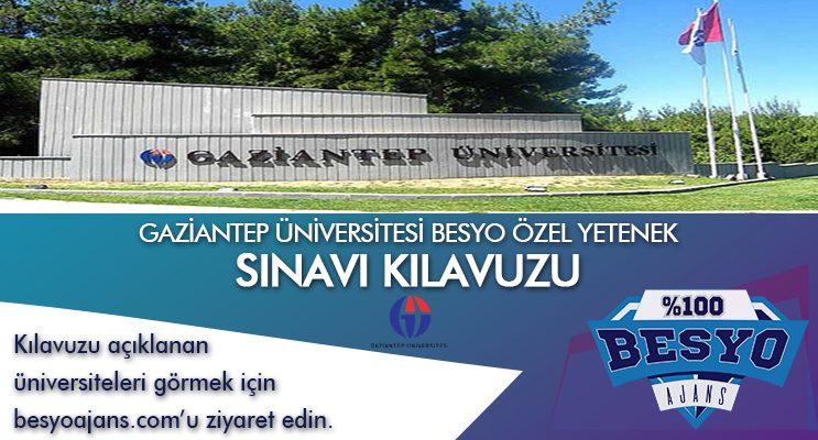 Gaziantep Üniversitesi Besyo Özel Yetenek Sınavı