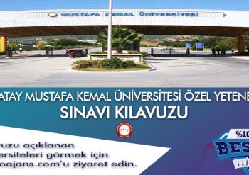 Hatay Mustafa Kemal Üniversitesi Besyo Özel Yetenek Sınavı