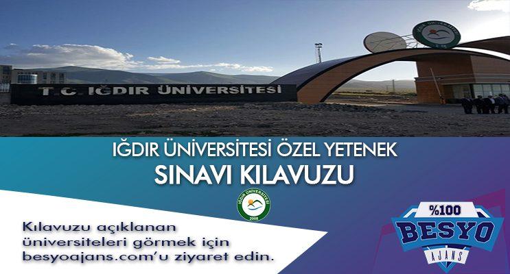 Iğdır Üniversitesi Besyo Özel Yetenek Sınavı