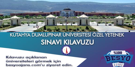 Kütahya Dumlupınar Üniversitesi Besyo Özel Yetenek Sınavı