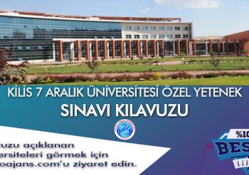 Kilis 7 Aralık Üniversitesi Besyo Özel Yetenek Sınavı