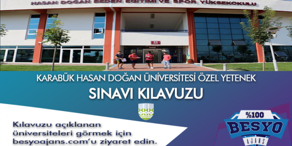 Karabük Üniversitesi Besyo Özel Yetenek Sınavı