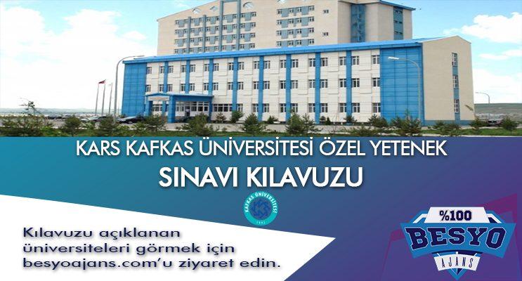 Kars Kafkas Üniversitesi Besyo Özel Yetenek Sınavı