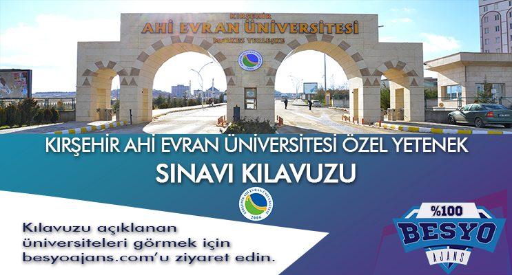 Kırşehir Ahi Evran Üniversitesi Besyo Özel Yetenek Sınavı