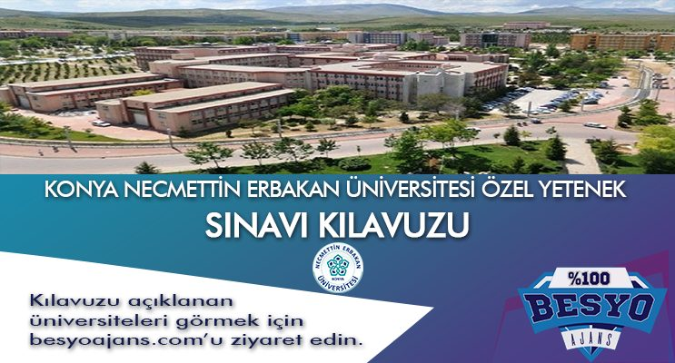 Konya Necmettin Erbakan Üniversitesi Besyo Özel Yetenek Sınavı
