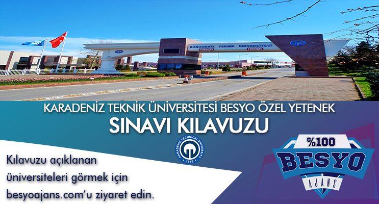 Karadeniz Teknik Üniversitesi BESYO Özel Yetenek Sınavı