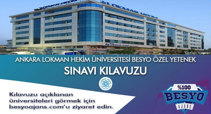 Ankara Lokman Hekim Üniversitesi Besyo Özel Yetenek Sınavı