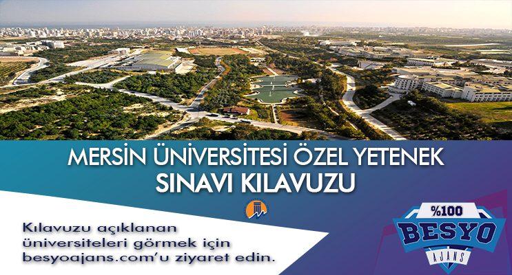 Mersin Üniversitesi Besyo Özel Yetenek Sınavı