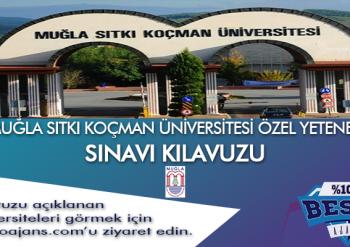 Muğla Sıtkı Koçman Üniversitesi Besyo Özel Yetenek Sınavı
