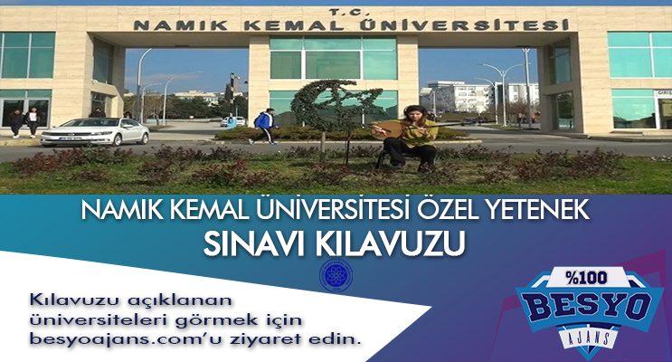 Tekirdağ Namık Kemal Üniversitesi Besyo Özel Yetenek Sınavı