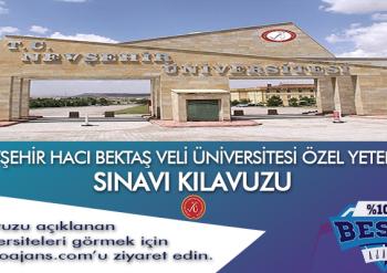 Nevşehir Hacıbektaş Veli Üniversitesi Besyo Özel Yetenek Sınavı