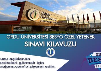 Ordu Üniversitesi Besyo Özel Yetenek Sınavı