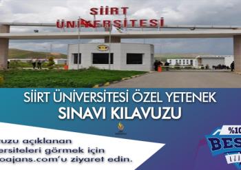 Siirt Üniversitesi Besyo Özel Yetenek Sınavı