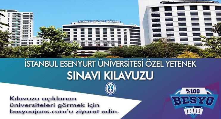 İstanbul Esenyurt Üniversitesi Besyo Özel Yetenek Sınavı