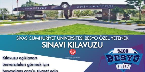 Sivas Cumhuriyet Üniversitesi Besyo Özel Yetenek Sınavı