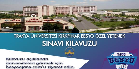 Edirne Trakya Üniversitesi Kırkpınar Besyo Özel Yetenek Sınavı