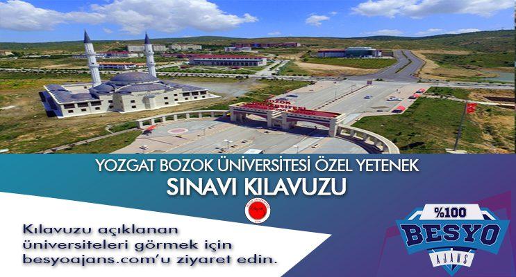 Yozgat Bozok Üniversitesi Besyo Özel Yetenek Sınavı