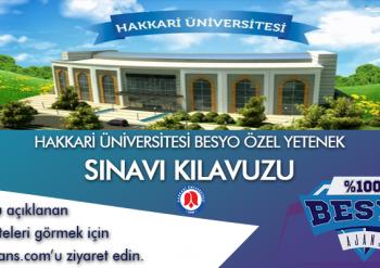 Hakkari Üniversitesi Besyo Özel Yetenek Sınavı Kılavuzu