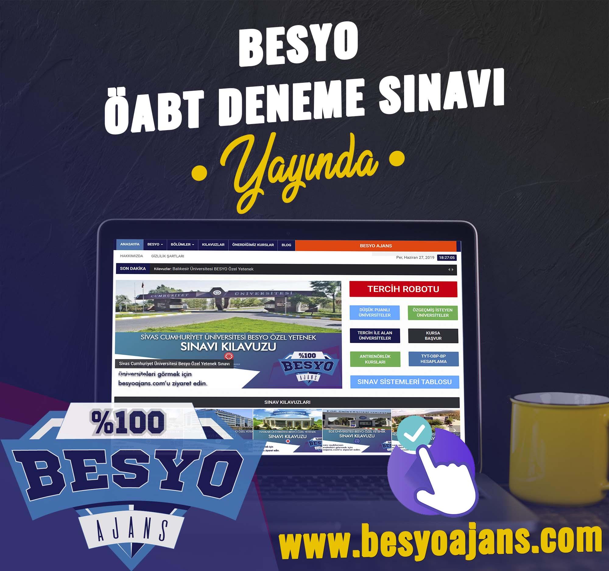 Ücretsiz Online BESYO ÖABT DENEME SINAVI 1