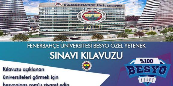Fenerbahçe Üniversitesi Spor Bilimleri Fakültesi Özel Yetenek Kılavuzu