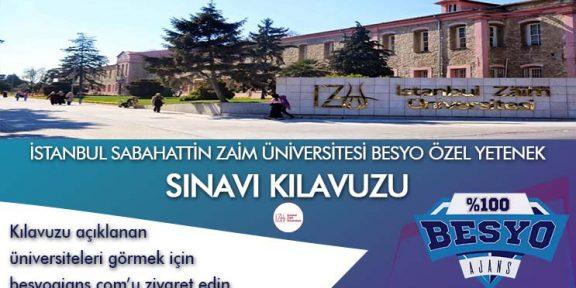 İstanbul Sabahattin Zaim Üniversitesi BESYO Özel Yetenek Sınavı