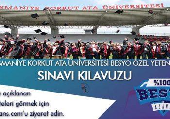 Osmaniye Korkut Ata Üniversitesi BESYO Özel Yetenek Sınavı