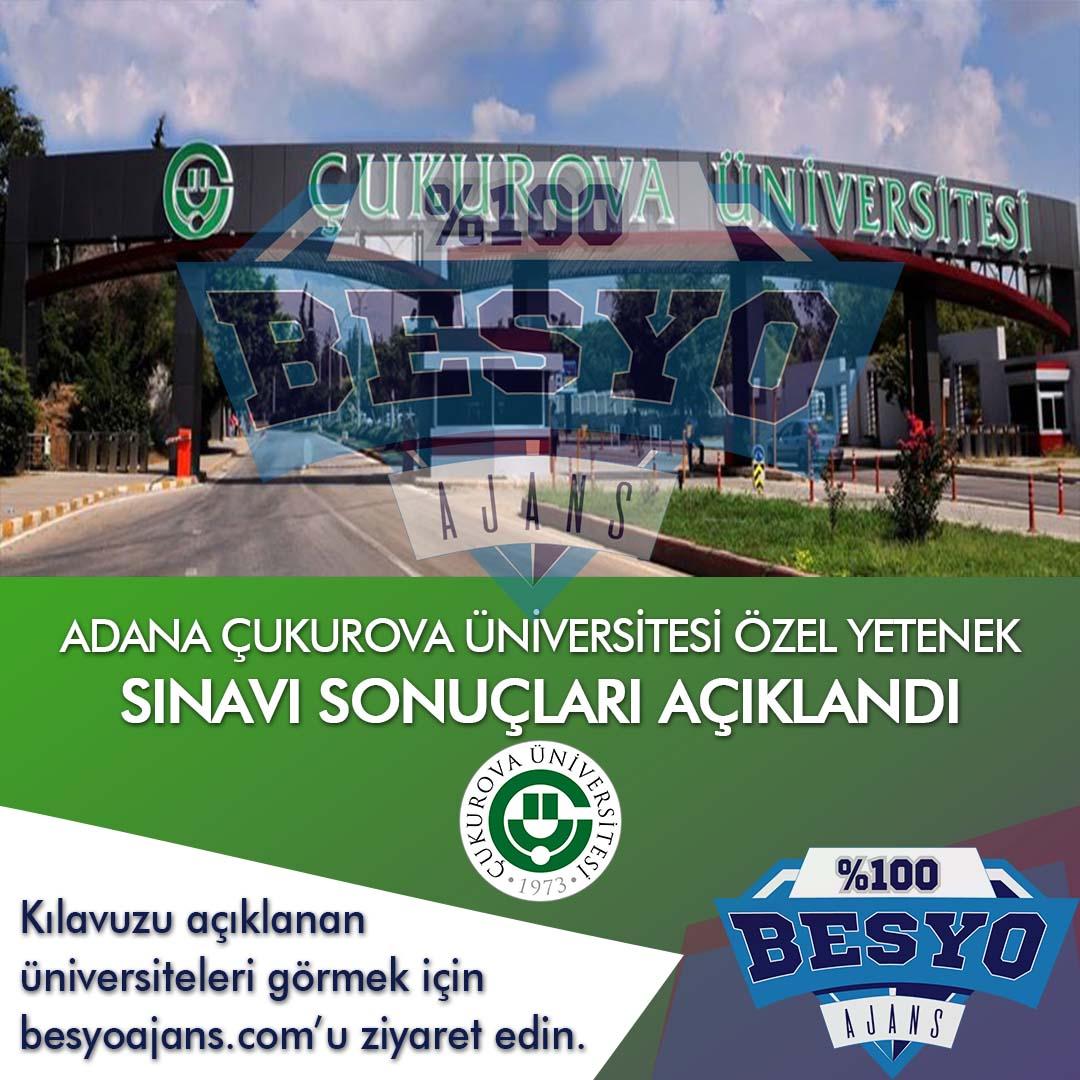 Adana Çukurova Üniversitesi BESYO Özel Yetenek Sınavı Sonuçları 2021